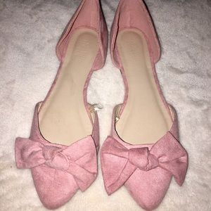 Charlotte Russe Pink Bow flats